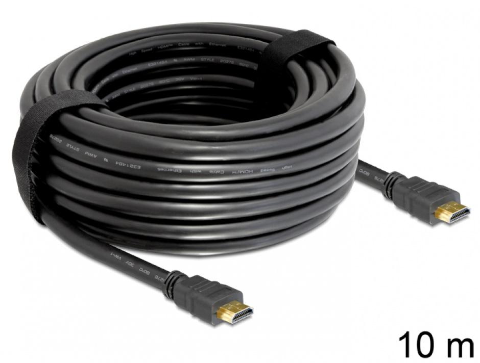 Imagine Cablu HDMI 4K v1.4 T-T 10m Negru, Delock 82709