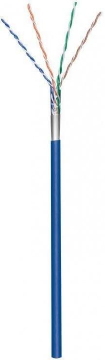 Imagine Rola cablu de retea cat.5e F/UTP CCA Albastru 100m, Goobay 93265