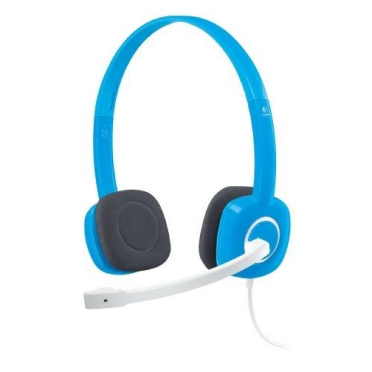 Imagine Casti Logitech H150 cu microfon, Sky Blue 981-000368