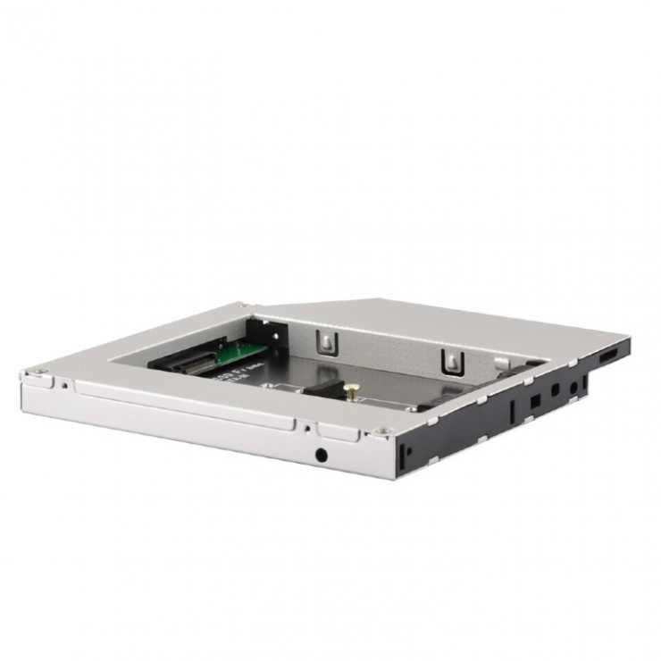 "Imagine Installation Frame (Caddy) Slim SATA 5.25"" 12.7mm  pentru M.2 NGFF, Gembird A-SATA12M2-01"