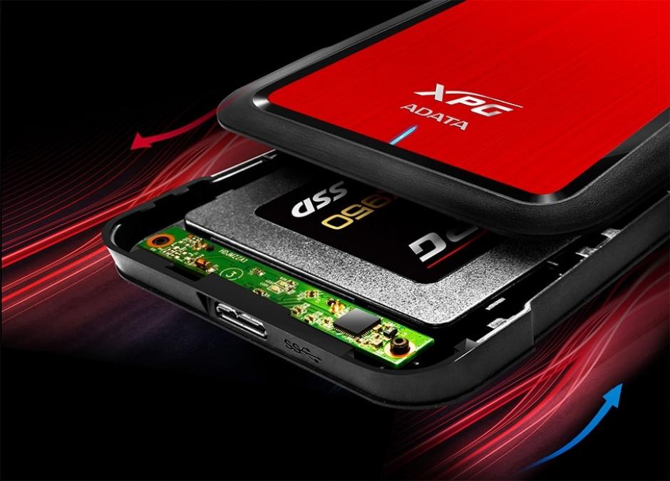 "Imagine Rack extern pentru HDD/SSD SATA 2.5"" la USB 3.1, A-DATA AEX500U3-CRD"