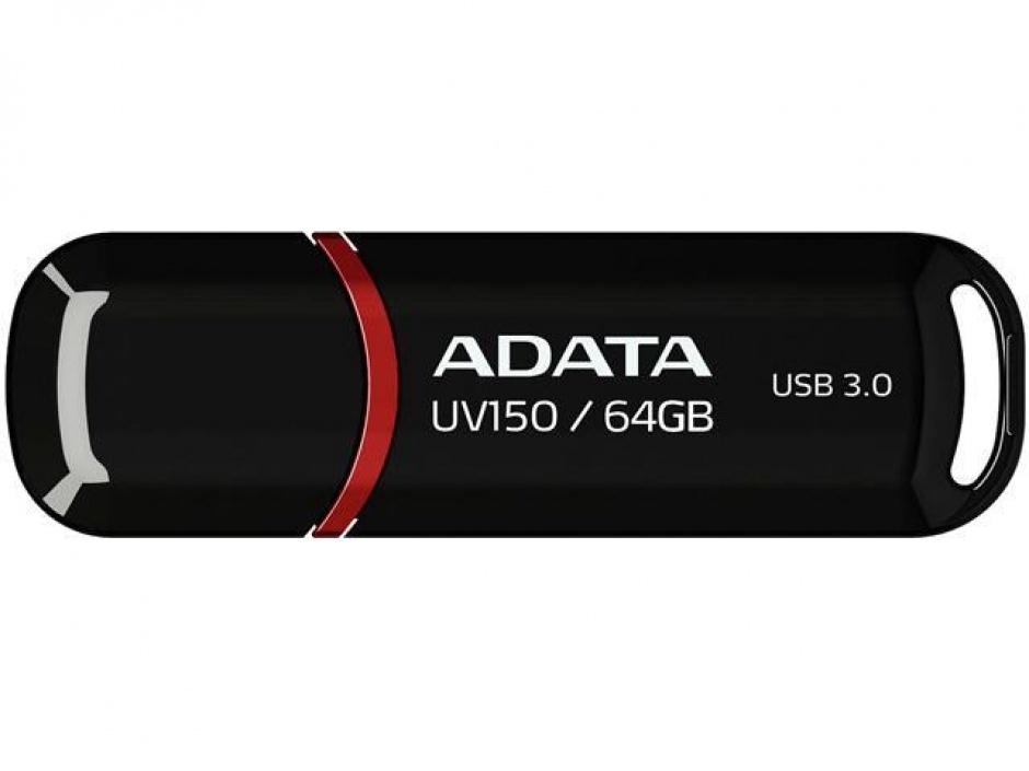 Imagine Stick USB 3.0 cu capac 64GB UV150 Negru, ADATA