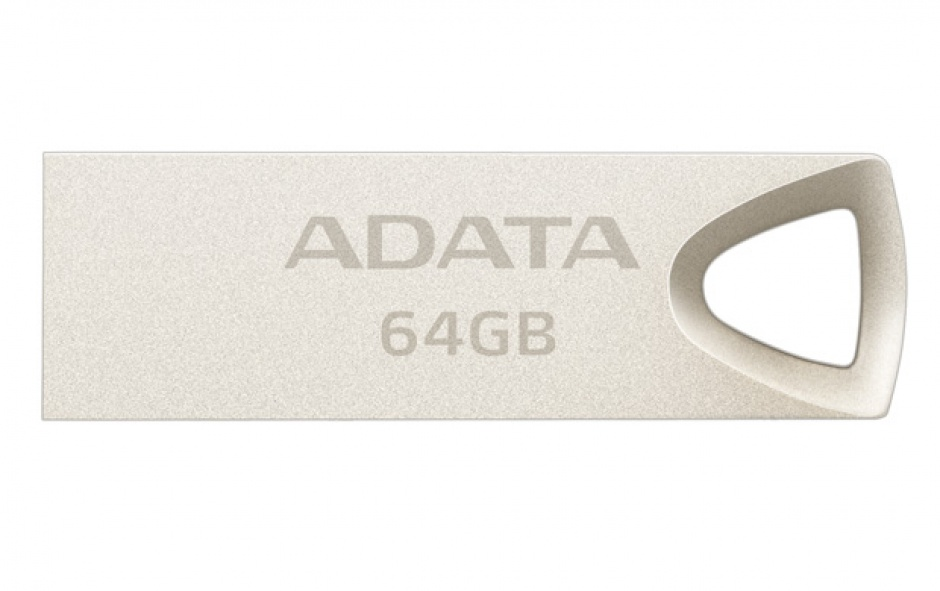 Imagine Stick USB 2.0 64GB aliaj zinc, rezistent la apa/praf/socuri Gold Crom, ADATA