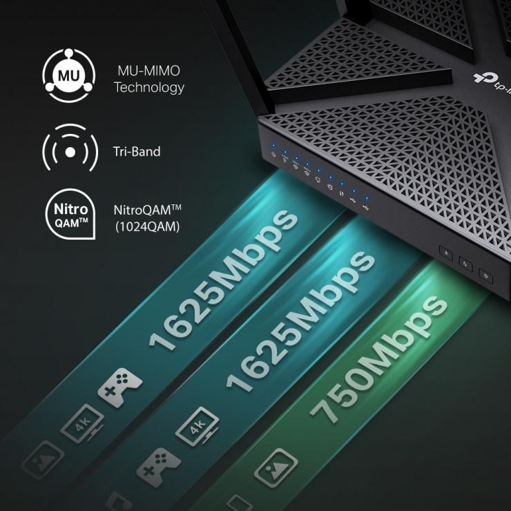 Imagine Router Wi-Fi Tri-Band MU-MIMO AC4000, TP-LINK Archer C4000-3