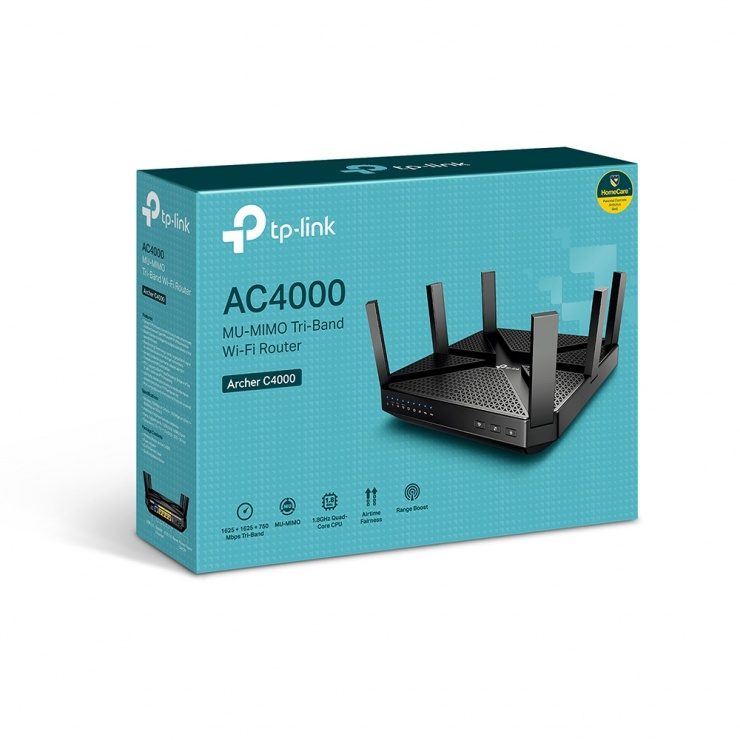 Imagine Router Wi-Fi Tri-Band MU-MIMO AC4000, TP-LINK Archer C4000-6