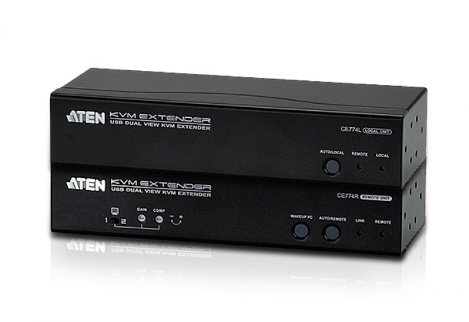 Imagine Extender KVM Cat 5 USB VGA Dual View 150m, ATEN CE774
