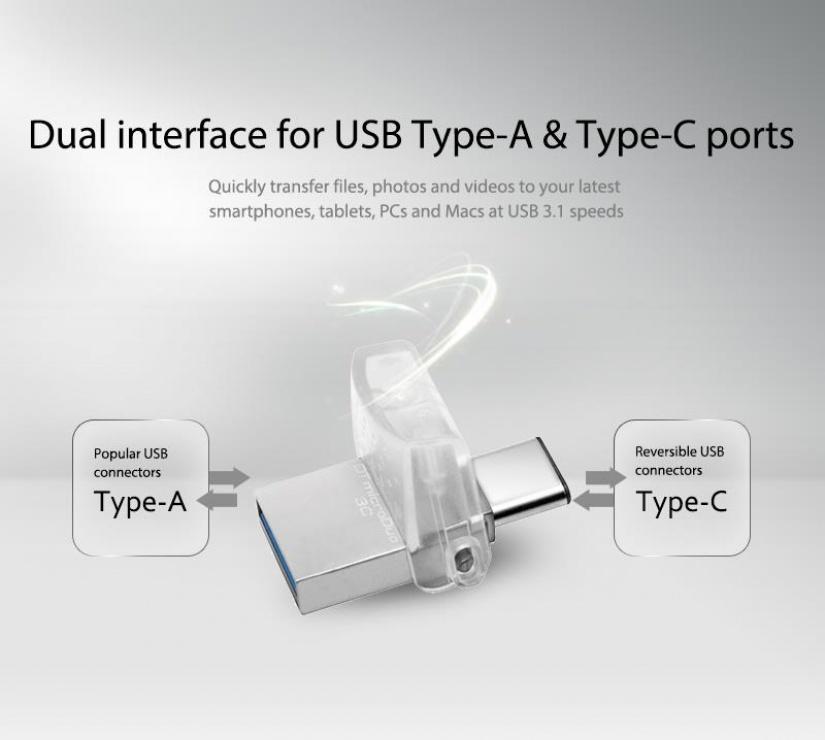 Imagine Stick USB 3.0 32GB DATA TRAVELER microDuo 3C OTG USB-A + USB-C, Kingston DTDUO3C/32GB-3