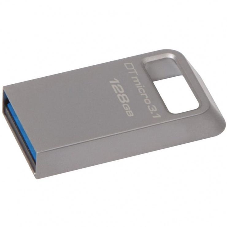 Imagine Stick DataTraveler Micro 128GB USB 3.1/3.0, Metal, Kingston