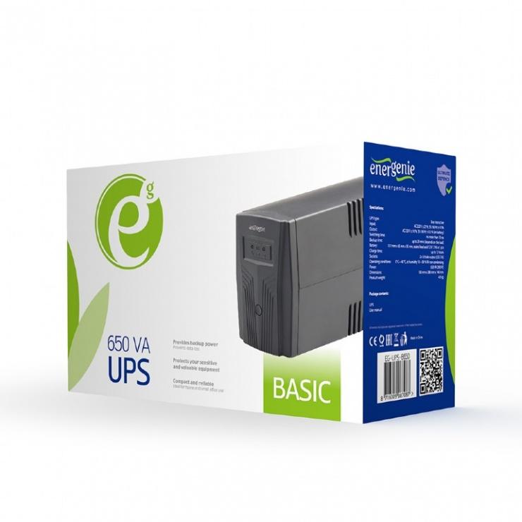 Imagine UPS 650VA Basic 650, Schuko output, GEMBIRD EG-UPS-B650