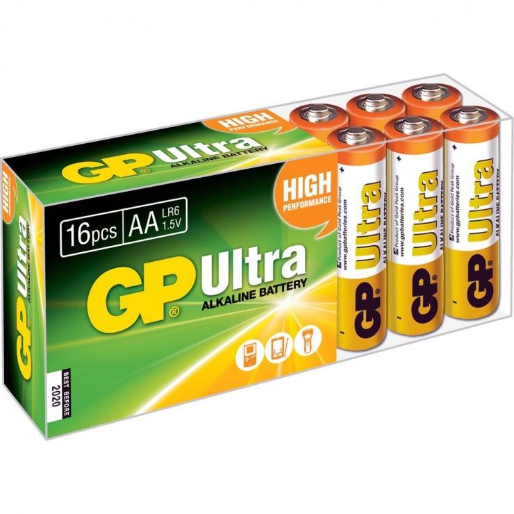 Imagine Set 16 buc baterie AA (R6) ultra alcalina, GP Batteries