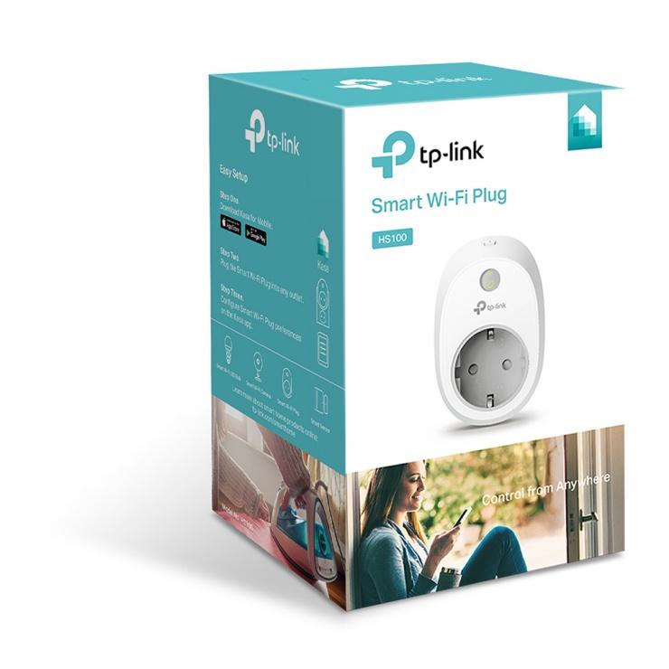 Imagine Priza Inteligenta Schuko Wi-Fi, TP-LINK HS100