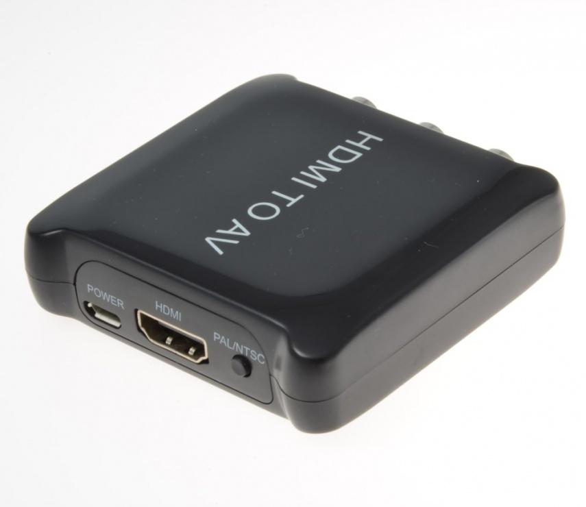 Imagine Convertor HDMI la 3 x RCA Composite video+Audio alimentare USB