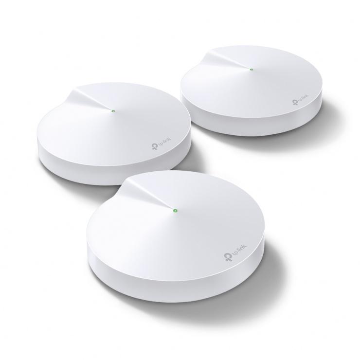 Imagine AC1300 Sistem Mesh Wi-Fi Gigabit pentru întreaga casa, TP-LINK Deco M5(3-PACK)