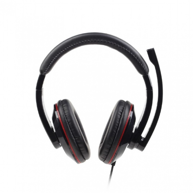 Imagine Casti stereo cu microfon Black, Gembird MHS-001-2