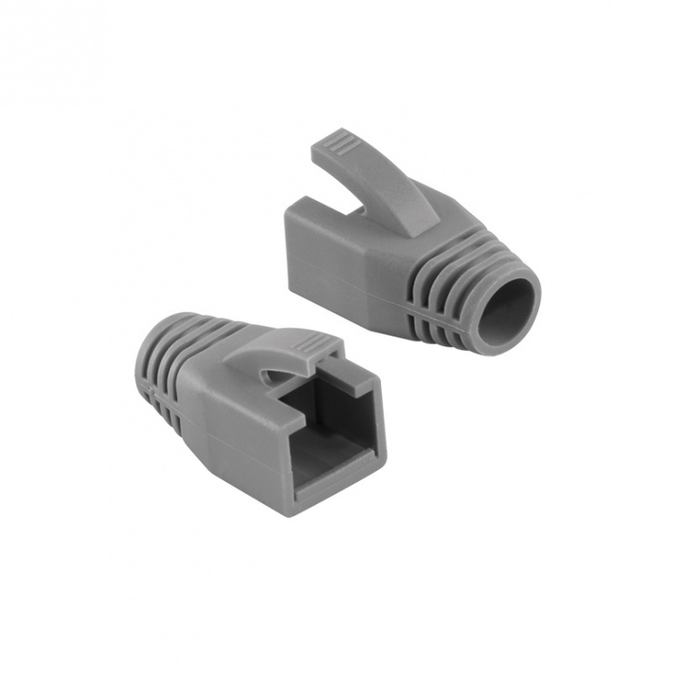 Imagine Manson cablu retea diametru max 8mm gri, Logilink MP0035