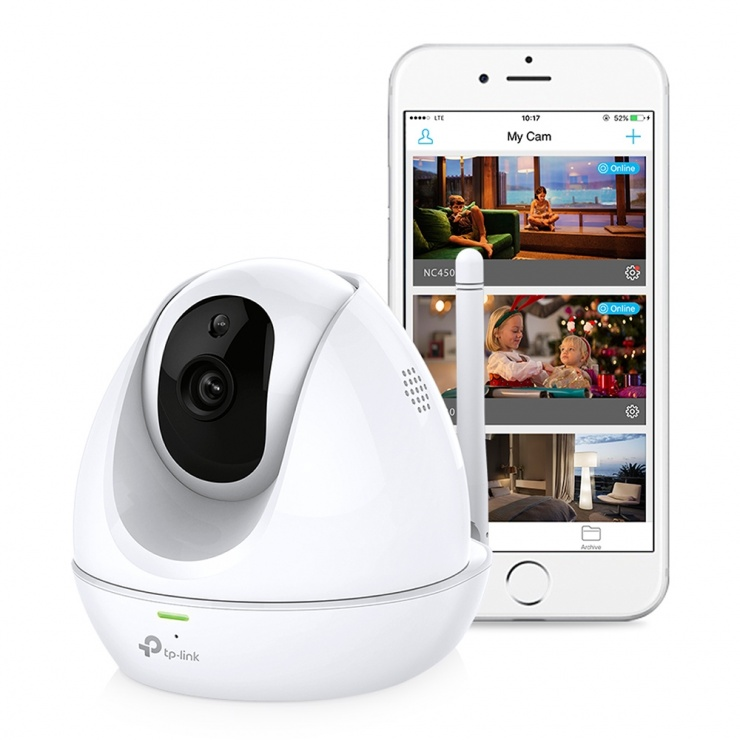 Imagine Camera Supraveghere IP wireless 300Mbps HDPan&TiltDay/NightCloud, TP-LINK NC450