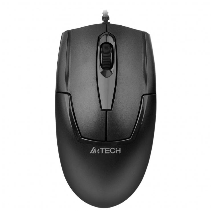 Imagine Mouse USB Padless metal black, A4Tech OP-550NU-1