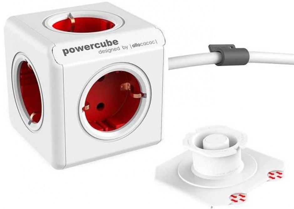 Imagine Prelungitor in forma de cub PowerCube Extended 5 prize Rosu 1.5m, Allocacoc