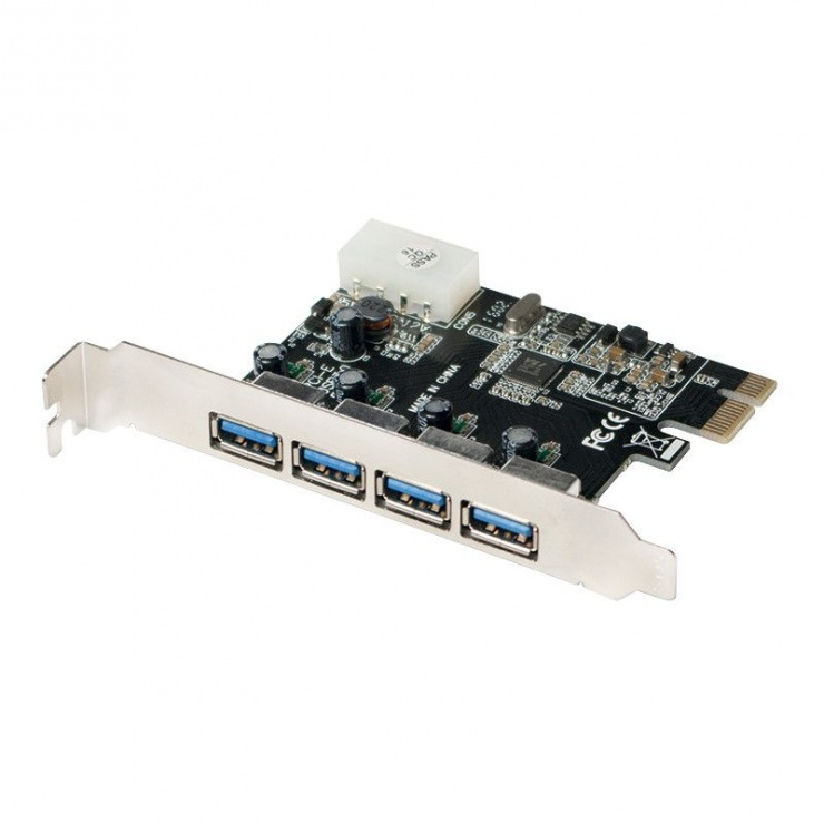 Imagine PCI Express la 4 x USB 3.0, VIA, Logilink PC0057A