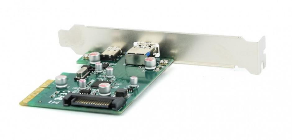 Imagine PCI Express cu 1 x USB 3.1-A + 1 x USB 3.1-C, Gembird PEX-U31-01
