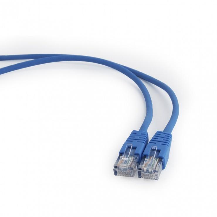 Imagine Cablu retea UTP Cat.5e 1m albastru, Gembird PP12-1M/B
