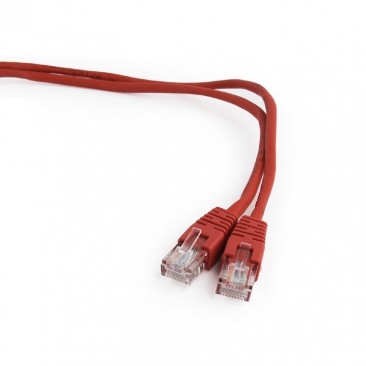 Imagine Cablu retea UTP Cat.5e 5m rosu, Gembird PP12-5M/R