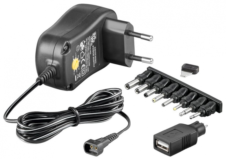 Imagine Alimentator universal 230V/3-12VDC 1500mA, Goobay 53997
