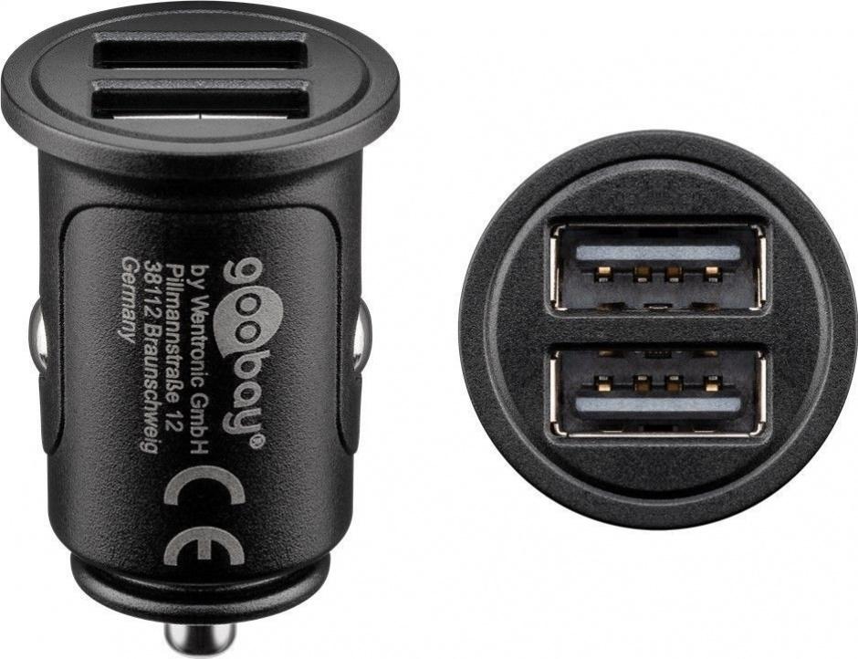 Imagine Incarcator auto cu 2 x USB 4.8A, Goobay 71897