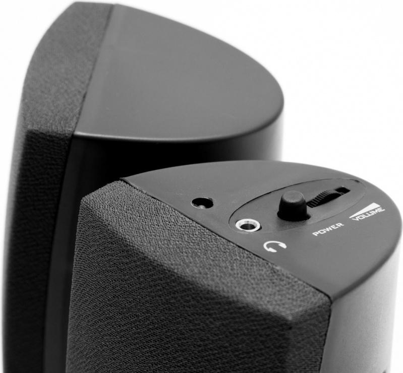 Imagine Boxe 2.0 RMS 3Wx2 alimentare USB Negru, Spacer SPB-A30