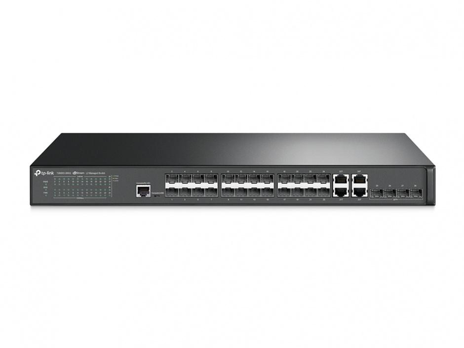 Imagine Switch JetStream 28 porturi Gigabit SFP L2 Managed, TP-LINK T2600G-28SQ-1