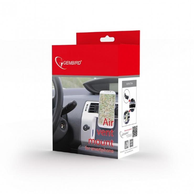 Imagine Suport telefon mobil maxim 6 inch pentru ventilator auto, Gembird TA-CHAV-02