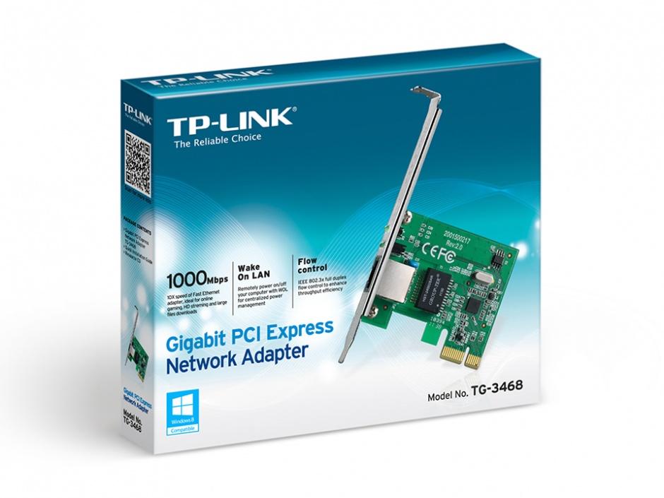 Imagine Placa de retea PCI Express Gigabit, TP-LINK TG-3468-1