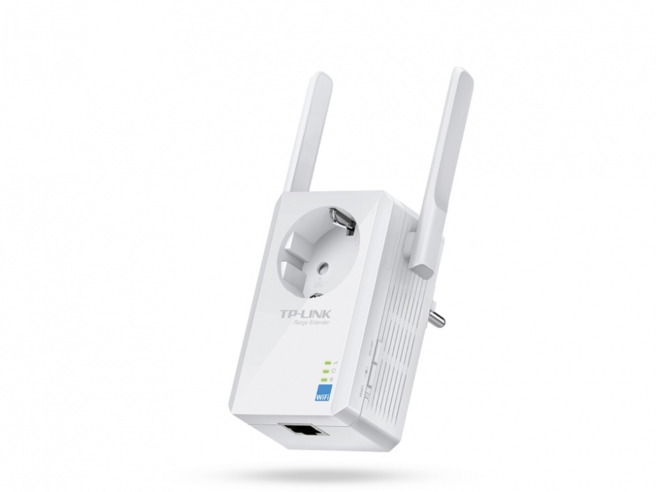Imagine Range Extender Universal WiFi 300Mbps cu AC Passthrough, TP-Link TL-WA860RE-1