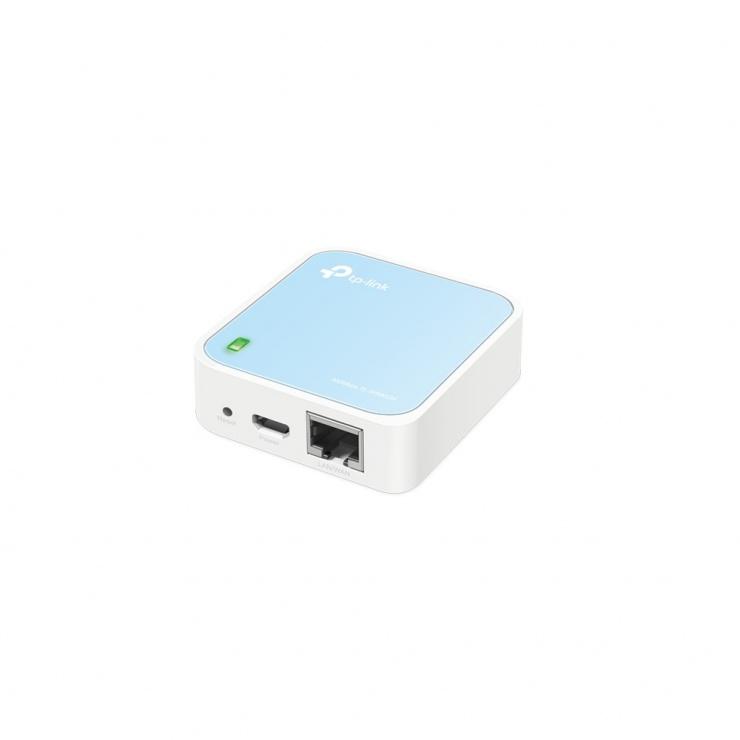 Imagine Router portabil wireless nano 300Mbps, TP-LINK TL-WR802N