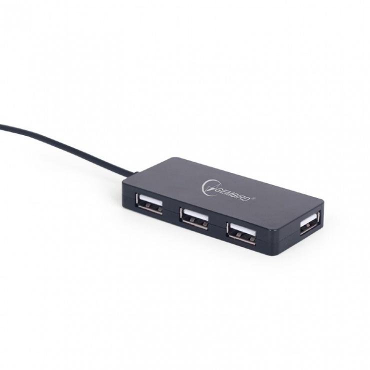 Imagine Hub USB 2.0 cu 4 porturi, Gembird UHB-U2P4-03