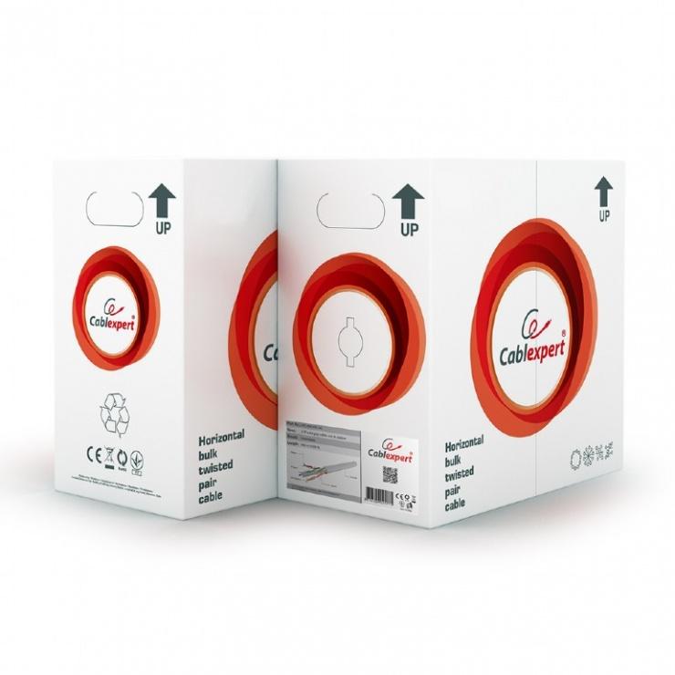Imagine  Cablu retea UTP cat. 6 AWG24 cupru solid 305m, GEMBIRD UPC-6004SE-SO-1