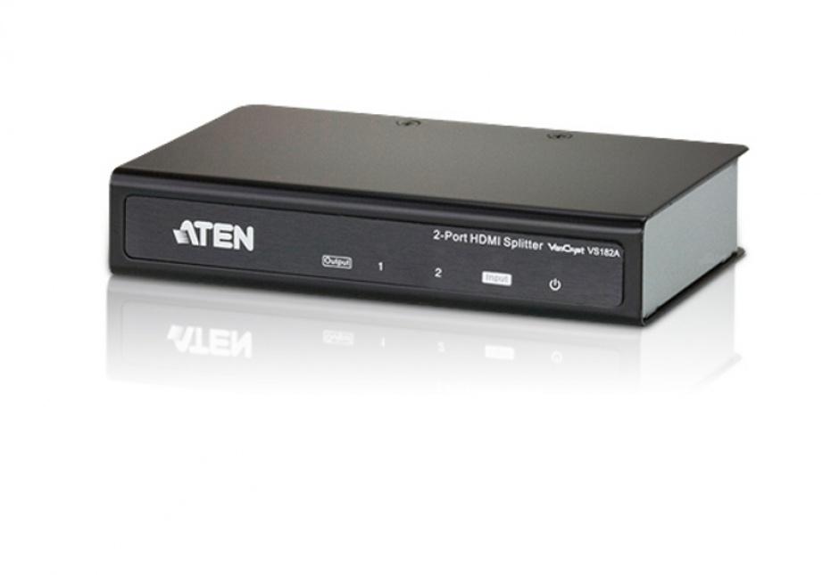 Imagine Multiplicator HDMI 2 porturi Ultra HD 4K, Aten VS182A