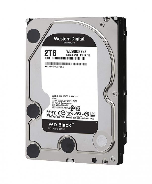 Imagine Hard disk 2TB 7200 64MB SATA3 WD BLACK, WD2003FZEX