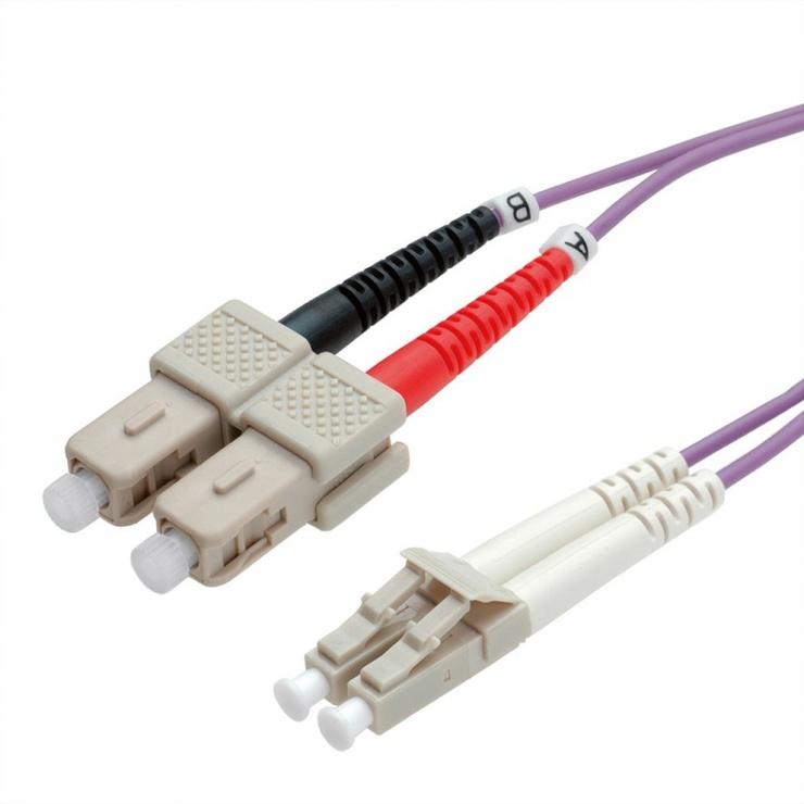 Imagine Cablu fibra optica LC-SC OM4 duplex multimode 0.5m, Value 21.99.8760