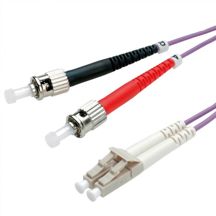 Imagine Cablu fibra optica LC-ST OM4 duplex multimode 5m, Value 21.99.8775