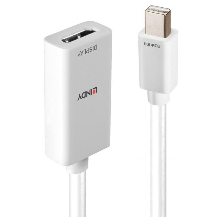 Imagine Adaptor Mini DisplayPort v1.2 la HDMI 18G cu HDR Activ T-M Alb, Lindy L41063