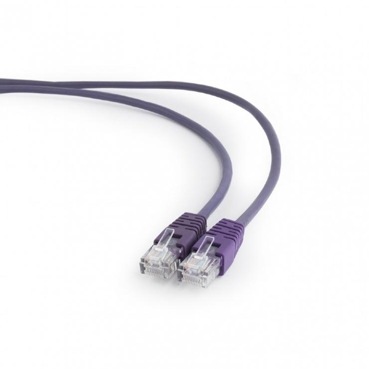 Imagine Cablu retea UTP Cat.5e 0.25m Mov, Gembird PP12-0.25M/V