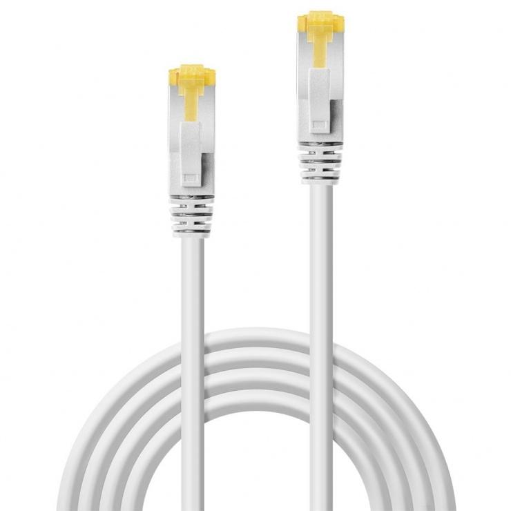 Imagine Cablu de retea S/FTP cat 7 LSOH cu mufe RJ45 Alb 0.3m, Lindy L47320