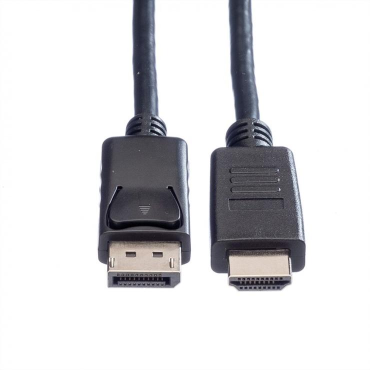 Imagine Cablu Displayport la HDMI 2m T-T Negru, Roline 11.04.5781