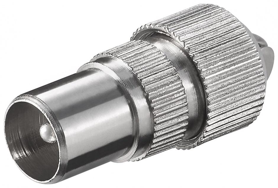 Imagine Conector metalic coaxial tata cu surub, Goobay 11479