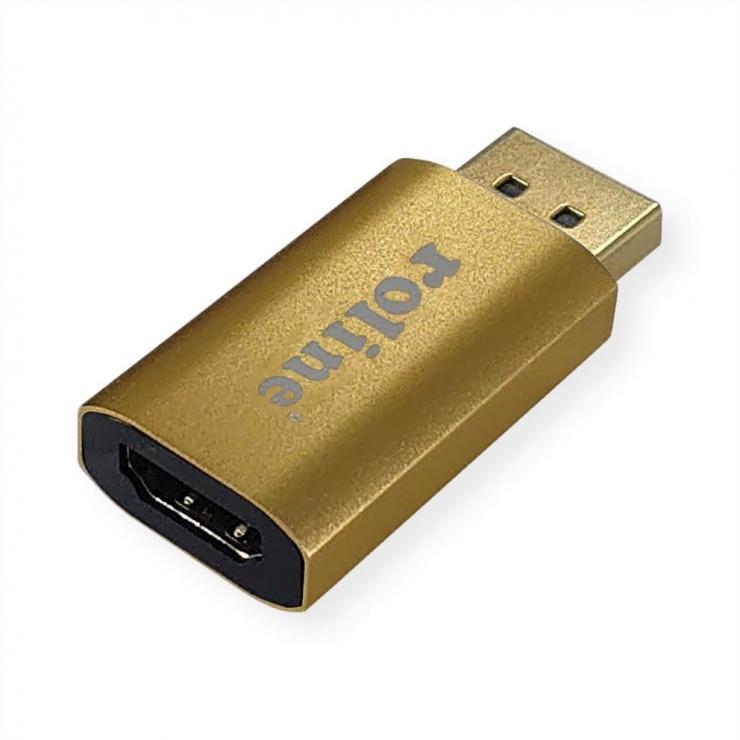 Imagine Adaptor GOLD Displayport 1.2 la HDMI activ 4K@60Hz T-M, Roline 12.03.3158