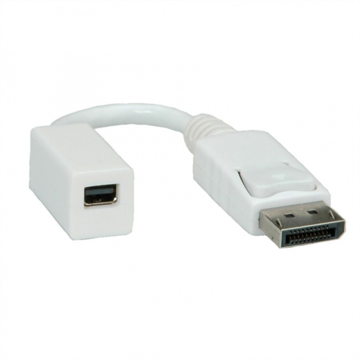 Imagine Adaptor Displayport la mini Displayport T-M 4K@30Hz Alb, Roline 12.03.3132-20