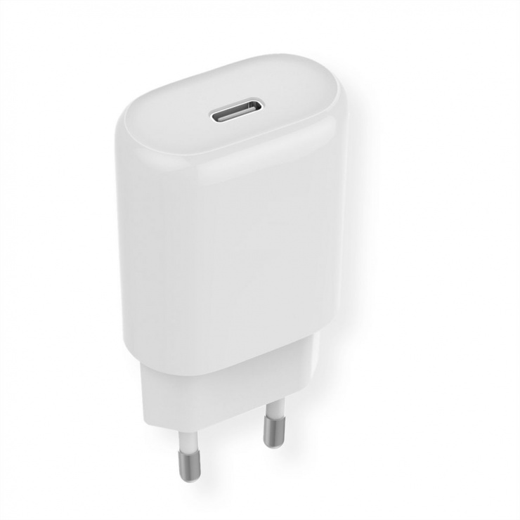Imagine Incarcator priza 1 x USB-C Quick Charge 4.0 18W, Roline 19.11.1023