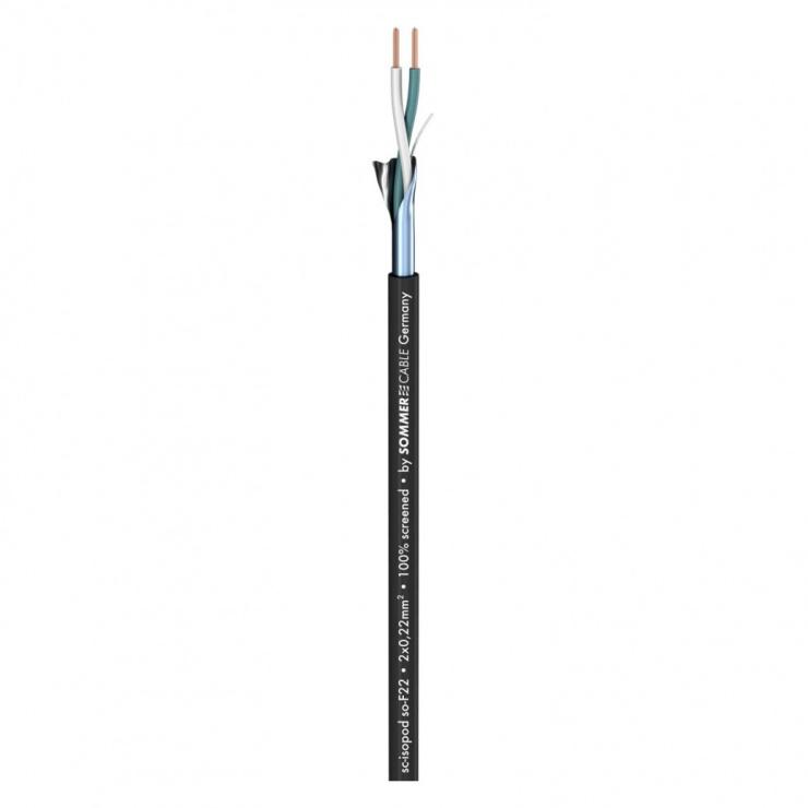 Imagine Cablu audio/boxe 2 x 0,22 mm²; PVC 3,30 mm 100m, 200-0401