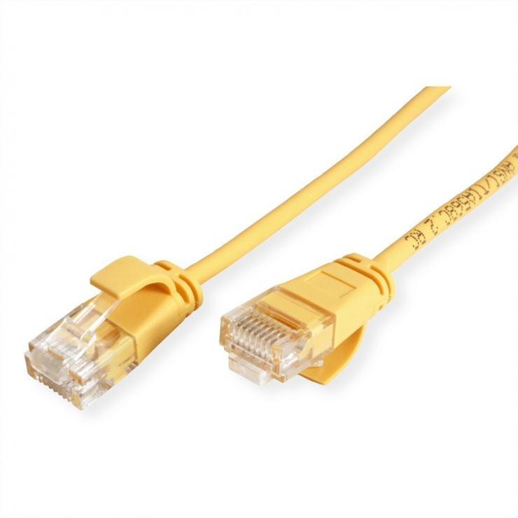 Imagine Cablu de retea Slim cat 6A UTP LSOH 3m Galben, Roline 21.15.3926